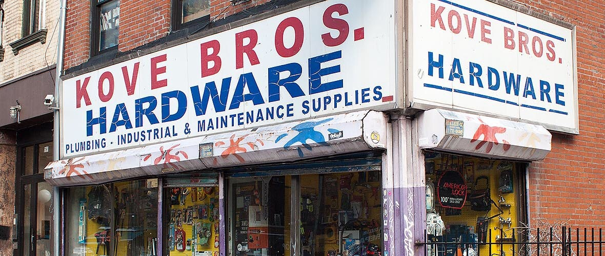 photo of front of Kove Brothers Hardware store