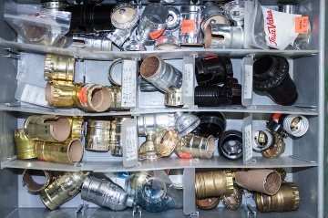 drawer of lamp sockets