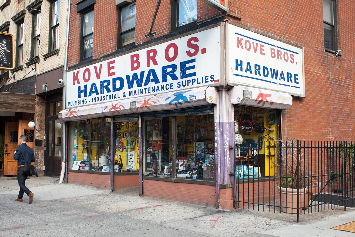 Storefront of Kove Brothers Hardware