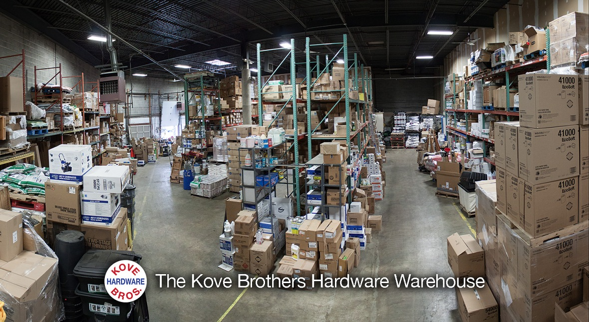 Interior of Kove Brothers Hardware Warehouse
